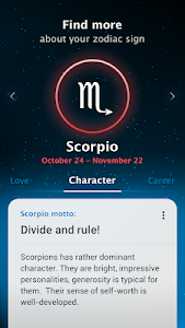 screenshot of Horoscope and all zodiac signs version 1.0.39