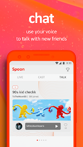 screenshot of Spoon: Live Stream, Voice Chat, New Music version 5.0.3 (233)