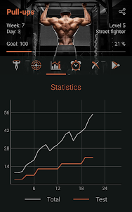 screenshot of 100 Pull-Ups - Ultimate Workout version 1.7.1
