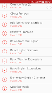 screenshot of English Grammar Test version 2019.10.25.0