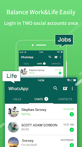 screenshot of 2Face-2 Accounts for whatsapp&social apps version 1.12.18