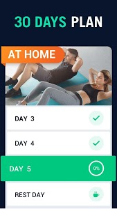 screenshot of 30 Day Fitness Challenge - Workout at Home version 2.0.2