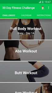 screenshot of 30 Day Fitness Challenge - Workout at Home version 1.0.50