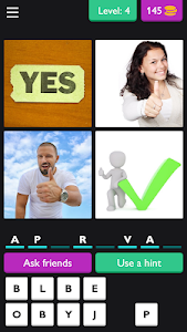 screenshot of ?4 Pics 8 Letter Word: Puzzle?? version 3.3.8z