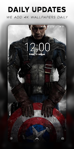 screenshot of 4K Superheroes Wallpapers - Live Wallpaper Changer version 1.5.1