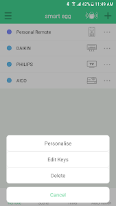 screenshot of AICO - Smart Remote Control version 2.4.3