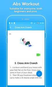 screenshot of Abs Exercises - Six Pack Workout version 1.3