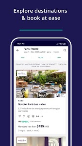 screenshot of Accor All - Hotel booking version 9.4.2