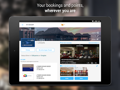 screenshot of AccorHotels - Hotel booking version 7.10.2