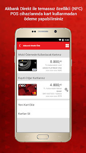 screenshot of Akbank Direkt version 3.21.0