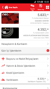 screenshot of Akbank Direkt version Varies with device