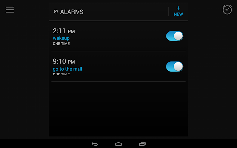 screenshot of Alarm Clock version Varies with device