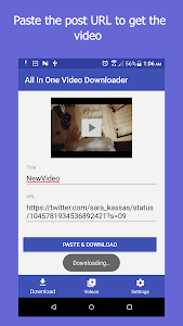 screenshot of All In One Video Downloader version 2.5