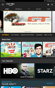 screenshot of Amazon Prime Video version 3.0.242.14741