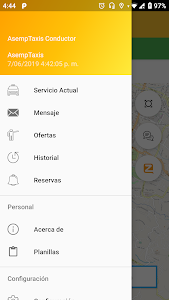 screenshot of AsempTaxis Conductor version 1.1