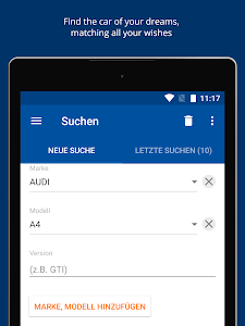 screenshot of AutoScout24 Switzerland – Find your new car version Varies with device