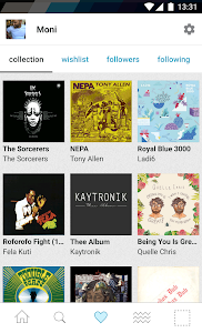 screenshot of Bandcamp version Varies with device
