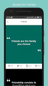 screenshot of Best Quotes and Status version 2.4