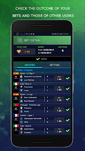 screenshot of BetMines Free Football Betting Tips & Predictions version 1.8.1