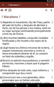 screenshot of Biblia Católica Latinoamerica version 4.0
