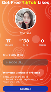 screenshot of Booster Fans Likes Followers For Tik-Tok version 2.8