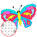 Butterfly Coloring : Color By Number_PixelArt