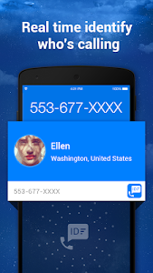 screenshot of Caller ID & Call Blocker Free version 1.2.4