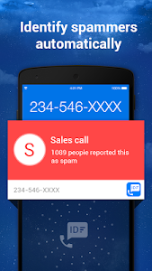 screenshot of Caller ID & Call Blocker Free version 1.2.9