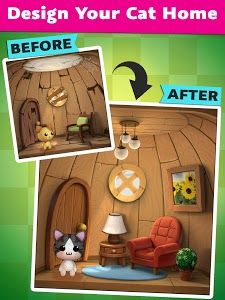 screenshot of Cat Home Design: Decorate Cute Magic Kitty Mansion version 1.6