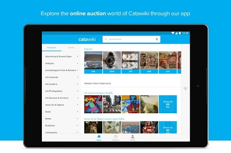 screenshot of Catawiki Online Auctions version 3.24.3