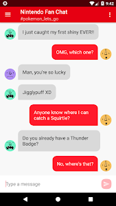 screenshot of Chat for Nintendo Fans version 1.2.1