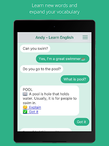 screenshot of Andy - English Speaking Bot version Varies with device