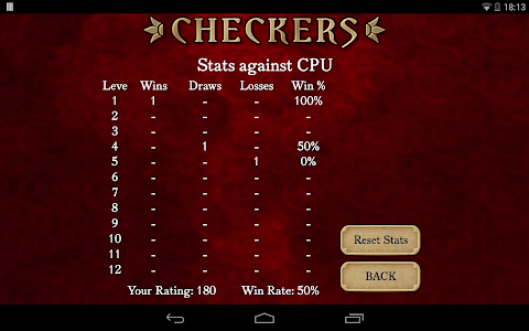 screenshot of Checkers Free version 2.171