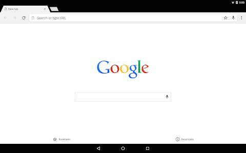 screenshot of Chrome Dev version Varies with device