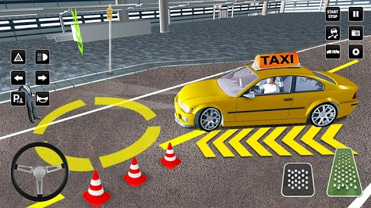 screenshot of City Taxi Driver Sim 2016: Multiplayer Cab Game 3D version 1.21