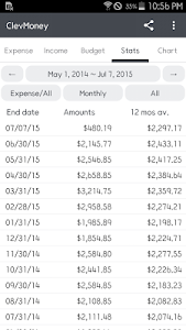 screenshot of ClevMoney - Personal Finance version 3.10.14