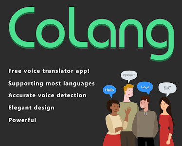 screenshot of Best free voice translator app | CoLang translator version 1.1.3