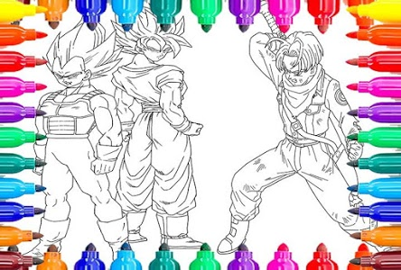 screenshot of Coloriage DBS -( dragon ball supers )- version 1.0