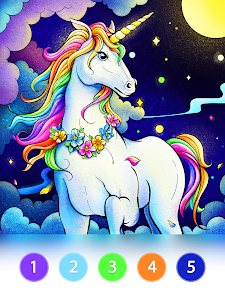 screenshot of Coloring Fun : Color by Number Games version 2.9.3