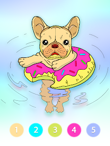 screenshot of Coloring Fun : Color by Number Games version 2.2.8