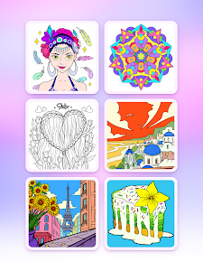 screenshot of Coloring Fun : Color by Number Games version 1.0.5