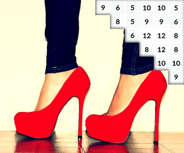 screenshot of Coloring Hot Heels Pixel Art Shoes Color by Number version 1