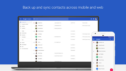 screenshot of Contacts version 2.0.10