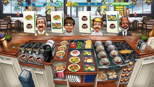 screenshot of Cooking Fever version 8.0.1