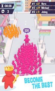 screenshot of Crowd City Simulator version 1.0