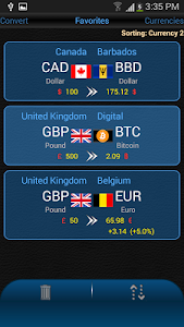 screenshot of Currency Converter DX version 1.28