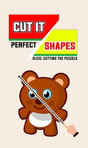 screenshot of Cut It Shapes Perfect Slice: Cutting The Puzzles version 1.0