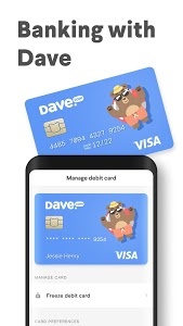 screenshot of Dave - Banking For Humans version 2.10.1