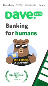 screenshot of Dave - Banking For Humans version 2.9.4