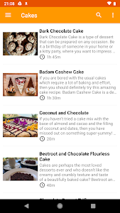 screenshot of Desserts Recipes Collection version 1.0